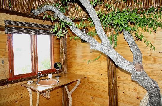 pezulu tree house game lodge pezulu tree house lodgeinterior bathroom