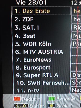 Palmira Beach: TV ist auf deutsche Gäste eingerichtet