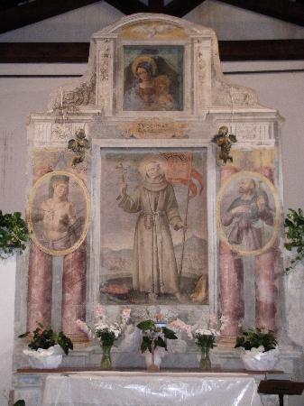L'altare della Chiesa di San Rocco