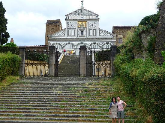 Loving Italy: Rina and I at the foot of San Miniato