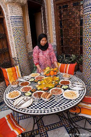 Riad Layalina Fez: Repas riad Layalina