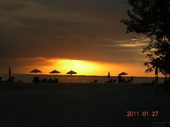 Sandals South Coast: beautiful sunsets every night!