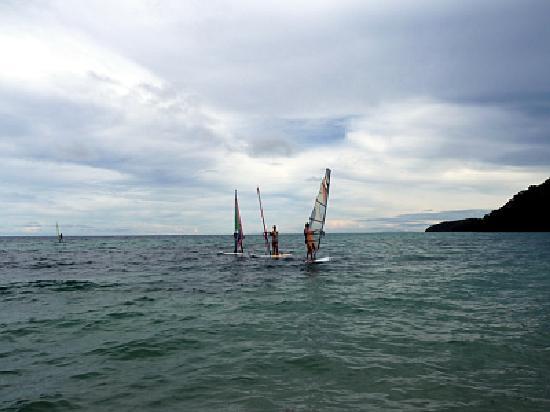 Safari Island Lodge : windsurfing lesson