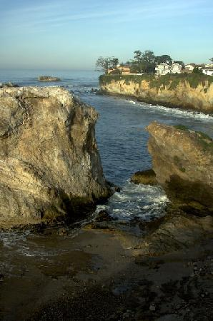 Shell Beach, CA: The steps down to the beach can be a challenge but it is worth it.