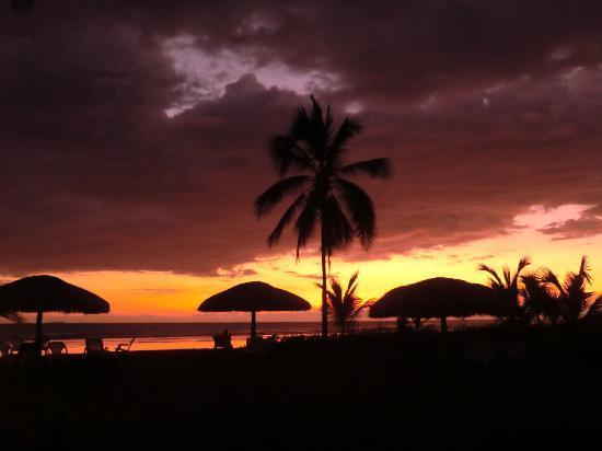 Sunset@las Lajas beach resort
