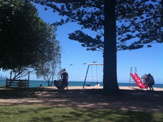 Burleigh Heads, Australia: 3 army helicopters Australia day