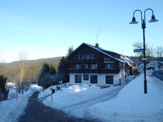 Hotel Waldeck : L'hôtel sous la neige