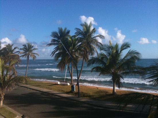 Luquillo Sunrise Beach Inn : View from our room