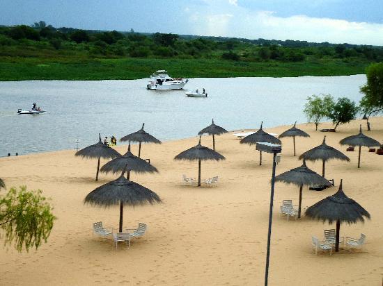 Lambare, Paraguay: beach, belonging to the hotel