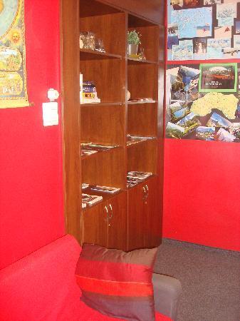 Flamingo Hostel: Good book collection