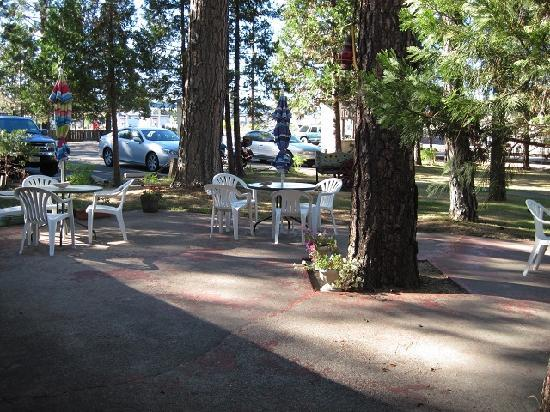 Quincy, CA: Front Patio Area
