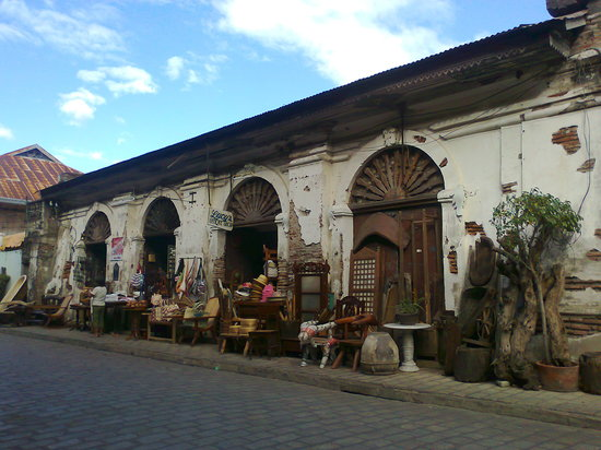 Vigan, Philippines: The street is known for its old houses and cobblestone path.
