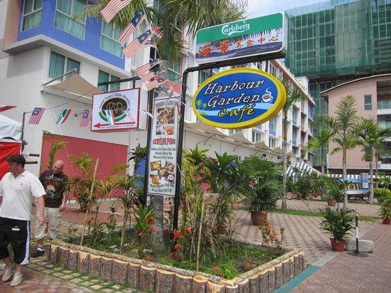 Signboard of Harbour Garden Cafe