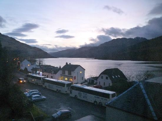 Loch Long Hotel: Loch Long at dusk, view from our room
