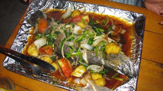 Saikaew Villa: Superbe poisson au resto