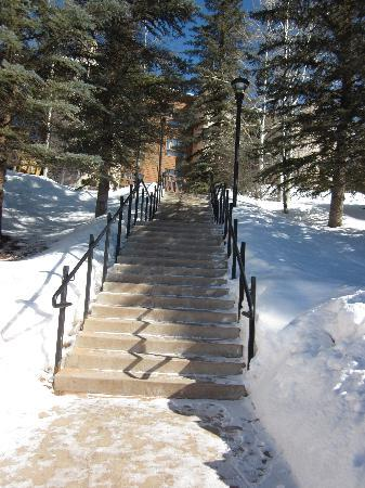 VRI Streamside at Vail - Cedar : First set of steps from the parking to to the Cedars