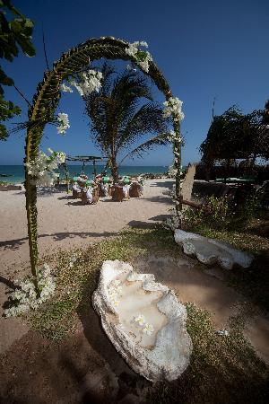 AfroChic Diani: The bridal arch!