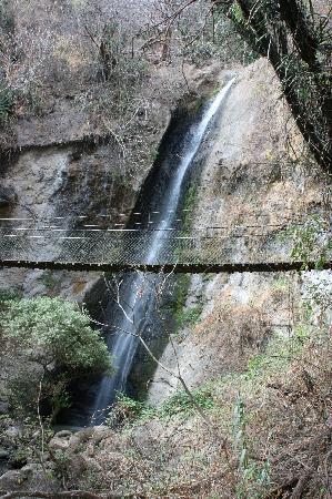 Panajachel, Guatemala: Subiendo para el canopy... vista de la catarata