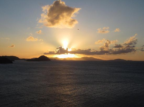 Tortola Sunset from BananaKeet Cafe