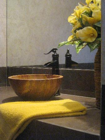 IslaMar Vacation Villas: Lovely Handmade Marble Vessel Sinks in Bathrooms