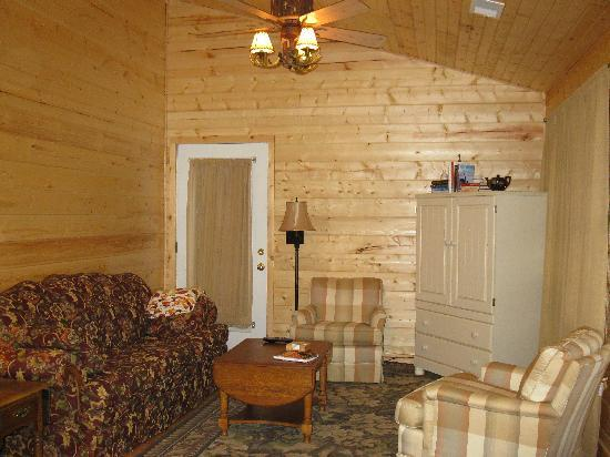 Cedar Rock Cabins: Violet's Song Living Room