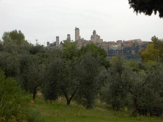 Agriturismo Guardastelle: view of San Gimignano from villa @ Guardastelle