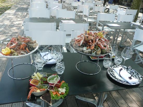 O VIP Restaurant: Terrasse dégustation Fruit de Mer