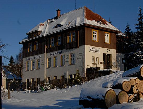 Zum Bahnel: Pension Bahnel, Jonsdorf, Westseite