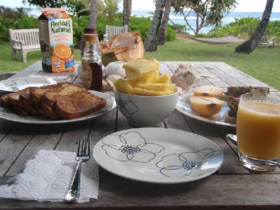 Hale Makai Cottages: perfect start of the day