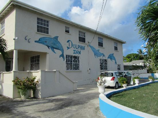 front of the Dolphin Inn