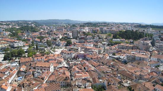 Leiria, Portugal : view seen from the castle