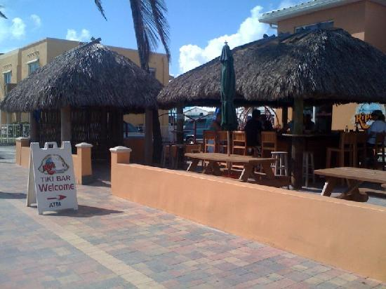 Riptide Hotel: building with the Tiki bar & office