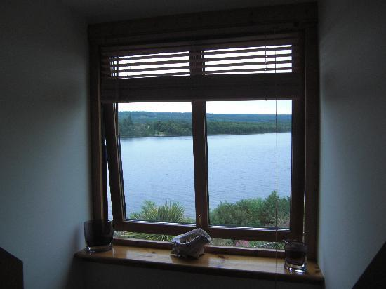 Kimcraigan B&B: View to Loch Ness right outside out bedroom window