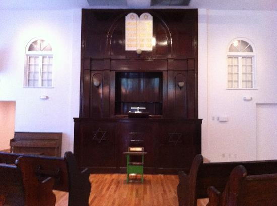Jewish Museum of Florida - FIU: Bimah in the first synagogue in Miami Beach, at the Jewish Museum in Miami, Florida