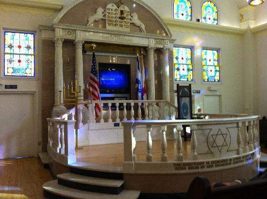 Jewish Museum of Florida - FIU: Marble Bimah in the second synagogue in Miami Beach, at the Jewish Museum in Miami, Florida