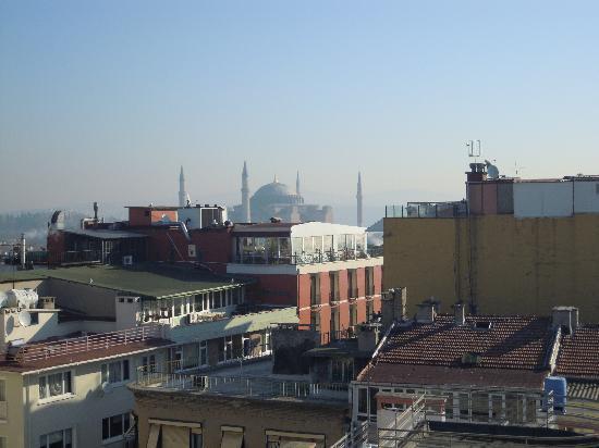 Hotel Mina: vista verso Hagia Sofia
