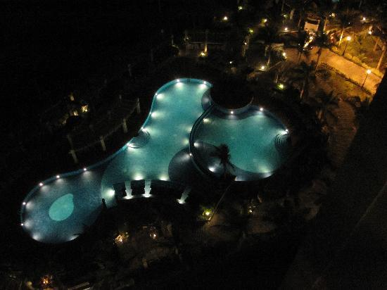 Hotel Riu Emerald Bay: Pools from the 11th floor