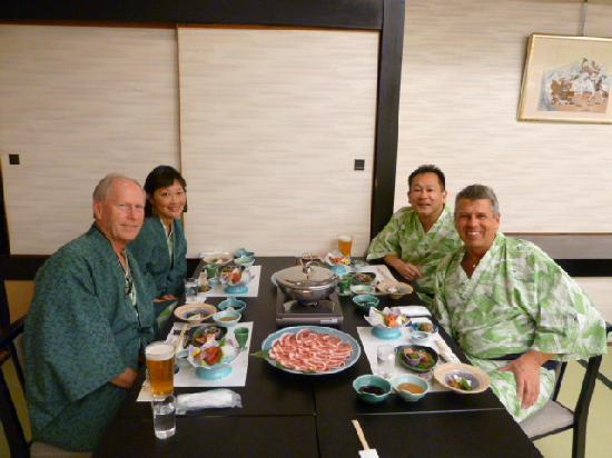 Ryokan Biyunoyado: dinner group