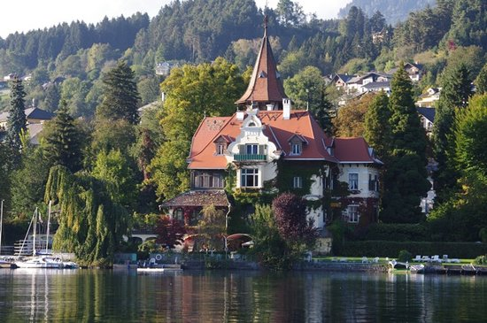Millstatt, Austria: view from the lake