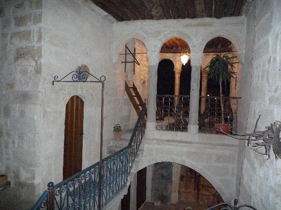 Hotel Cave Konak Balcony at Night