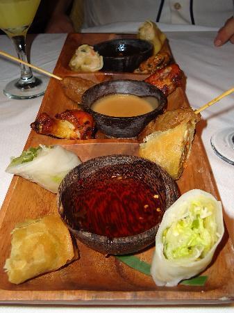 Couples Negril: Appetizer platter at Asian restaurant