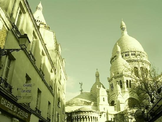 Paryż, Francja: Scorcio del Sacro Cuore