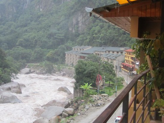 Munay Tika: View over cascading river at back of hotel