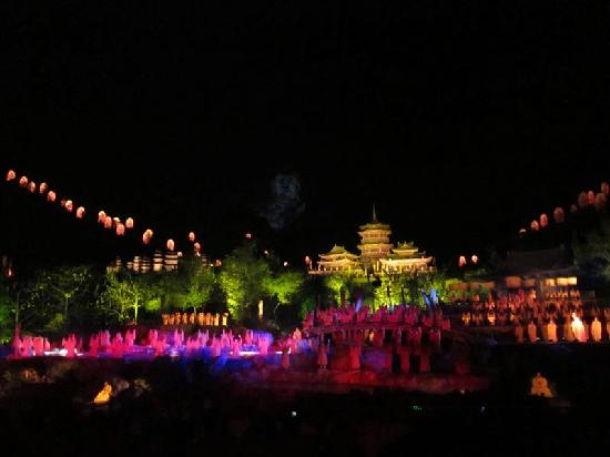 Chanwu Hotel : The outdoor spectacular show in Dengfeng