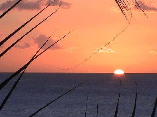 Schoelcher, Martinica: sunset from balcony