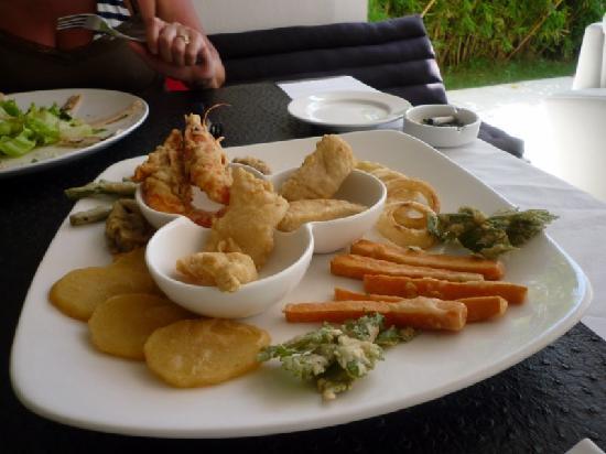 "Le 48, Zen & Happy Rezort: un plat  ""tempura"""