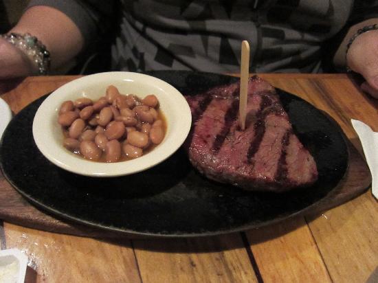 Silver Saddle Steak House: サーロインステーキです。