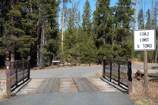 Indian Creek Campground: A small bridge on your way to the campground from the highway.