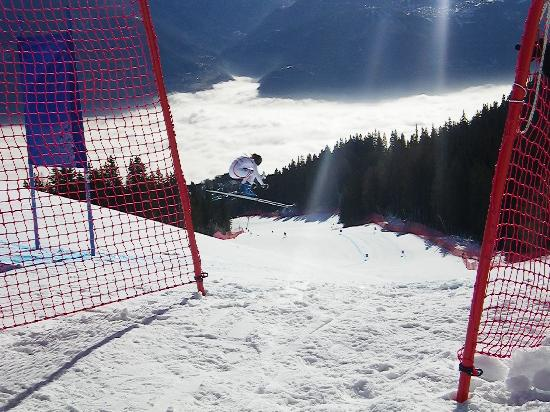 Crans-Montana, Schweiz: WorldCup flight