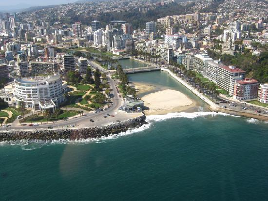 Vina del Mar, Chile: Desembocadura Marga Marga y Casino Viña
